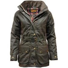 Game Cantrell Padded Antique Ladies Waxed Jacket Olive