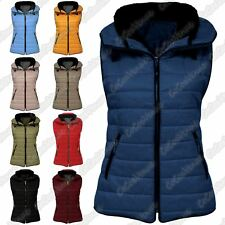 New Ladies Sleeveless Gilet Quilted Puffer Padded Jacket Zip BodyWarmer Coat Top