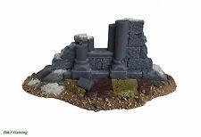 Wargames Scenery Terrain Frostgrave Gothic Ruins Wall #1 Warhammer Age of Sigmar