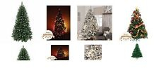 Luxury Green winter snowy artificial multicolor light changing Christmas trees