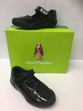 Hush Puppies Rina Infant Girls Patent School Shoes In Black ( Only £26.90)