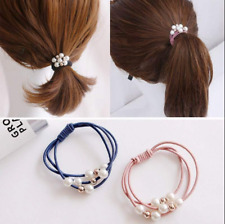Lady Hair Band Elastic Pearl Hair Ring Tie Rope Hair Ring For Headwear