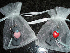 Me To You Bear Pink / Red Heart Tatty Teddy Mobile Phone Charm Organza Bag - NEW