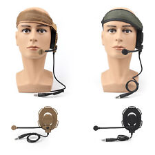 Z Tactical Headset Headphone Military Style HD-03 Airsoft Mic Radio Adjust