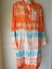 SOFT SURROUNDINGS Silk Sol Tunic Top - Sunset -NWT SZ S,M,L,XL
