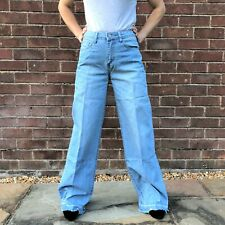 New Womens Light Blue Faded Mid Rise Wide Loose Boyfriend Jeans Frayed Leg Ends