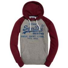 Superdry Sweat Shirt Store Raglan Hoodie Phoenix Grey Grit/Bright Berry Grit VQ6