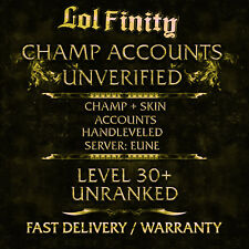 League of Legends Account EUNE LoL Smurf Acc CHAMPS + SKINS Level 30+ Unranked