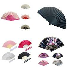 Spanish/Chinese Style Dance Party Wedding Lace Silk Folding Hand Held Flower Fan