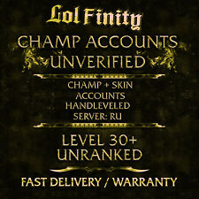 League of Legends Account RU LoL Smurf Acc CHAMPS + SKINS Level 30+ Unranked