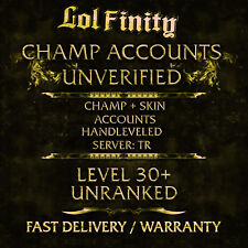 League of Legends Account TR LoL Smurf Acc CHAMPS + SKINS Level 30+ Unranked