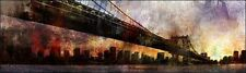 Ken Roko : sotto The Manhattan Bridge Stampa su Tela con Telaio New York Ponte