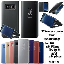 SmartView Mirror Leather Flip Stand Case for Samsung Galaxy S7 S8 S9 Note8 Note9
