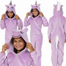 Cosy Girls Lilac Sparkle Unicorn Onezee with 3D Horn and Mane, Age 7-14