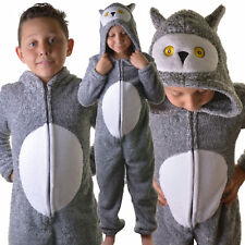 Kids Teens Boys Girls Super Comfortable Snowy Owl All In One Bodysuit, Age 7-16