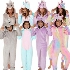 Mini Me Unicorn All in One Onezee Jumpsuit with 3D Horn/Mane, Adults and Kids