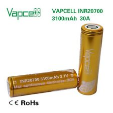 Vapcell 20700 Battery high Energy Density Rechargeable 3.7V  20700 3100mah 30A