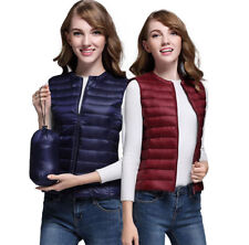 Womens Padded 90% Down Quilted vest Gilet Body Warmer Sleeveless Warm Jacket New