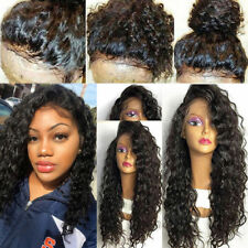 Free  Human Hair Long Curly Full Lace Wigs Lace Front Wig with Baby Hair Wig