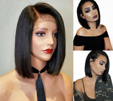 Free Pre Plucked Virgin Human Hair Full Lace Wigs Brazilian Glueless Lace Front