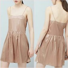 Premium Metallic Pink Nude Cami Dress Mango Size 6 8 10 US 2 4 6 Zara Blogger ❤
