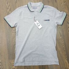 MEN'S LAMBRETTA TRIPLE TIPPED POLO IN GREY MARL/GREEN/WHITE/NAVY  *ONLY £19.99*