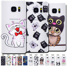 For Samsung Protective TPU Cute Back Skin Silicone Clear Pattern Soft Case Cover