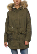 Superdry Giacca Donna Rookie Hvy Weather Tigre Parka Cachi