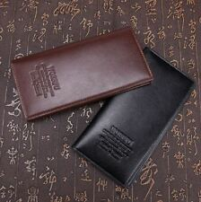 Mens Luxury PU Leather Business Wallet Purse Credit Debit Card ID Money Holder