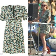 BNWT Topshop Kate Moss Floral Pansy Print Summer Tea Dress - Size 12