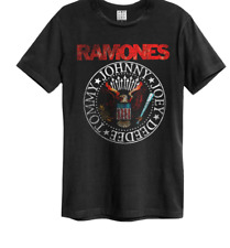 Ramones Vintage Seal T Shirt Amplified Official Rocket to Russia Road to Ruin