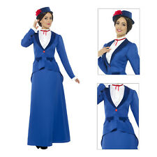 Smiffys Adults Victorian Nanny Fancy Dress Costume Womens New Character Outfit