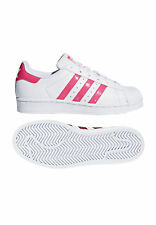 Adidas Originals Scarpe da Tennis da Donna Superstar DB1210 Bianco Rosa