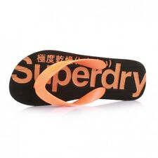 Superdry Chanclas de Dedo Hombre - MS0GS230 - Black - Fluro Naranja
