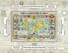 United Nations Jigsaw Map of the World - Pictorial History