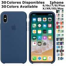 Funda Carcasa LOGO SILICONA Genuina Original IPHONE 6 6s 7 8 plus X XR XS Max