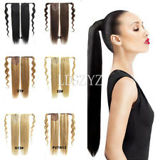 100% Human Hair Ponytail Comb Pony Tail Hair Extensions 16''-20''