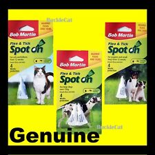 BOB MARTIN SPOT ON Flea and Tick Drops Treatment for Dogs Cats Small Large