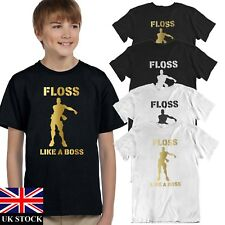 BOYS MENS FLOSS LIKE A BOSS T SHIRT TOP KIDS GAMENITE PS4 XBOX FORT INSPIRED FB2