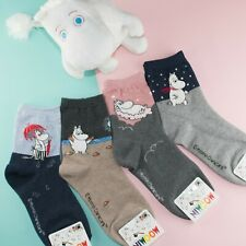 Moomin Valley Character Novelty Cartoon Cute Socks Womens
