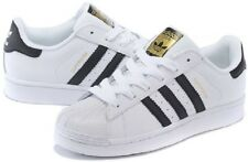Adidas Originals SuperStar Trainers - C77124 - WHITE/BLACK - Unisex Sneakers - B