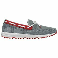 Swims Breeze Leap Laser Mens Footwear Slip Ons - Limestone White Red All Sizes