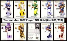 2007 Playoff NFL GOLD (Serial #ed 01/299) Football Set Pick Your Team