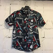 CHEMISE HAWAIENNE - FULL PRINT - GUITARE  HARD ROCK  HAWAIIAN GUITAR MUSIC SHIRT
