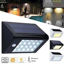 Energía solar de pared con sensor de movimiento 20 LED impermeable lampara luz