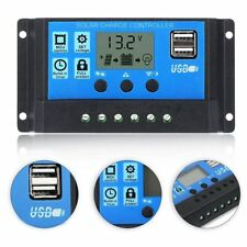 12V 24V 10/20/30A Solar Panel Battery Regulator Charge Controller with USB Out🔥