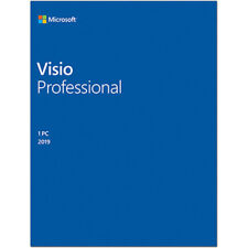 Microsoft VISIO 2019 Retail - Installs on 2 PC's + Free US Tech Support