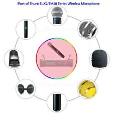 Wireless Mic Cover,Battery Cap,Switch Button,Capsule,Grille for shure SM58 SLX2
