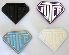 IUTER black/white/purple/light blue belt buckle fibbia cintura uomo _