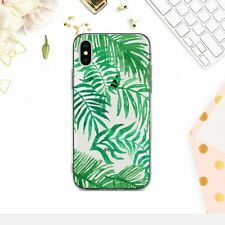 Tropical iPhone 7 8 Plus Silicone Cover Leaves iPhone 6 6s Clear Case iPhone 7 8